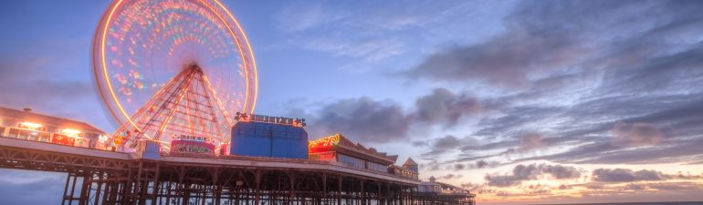 Blackpool Central Pier at night