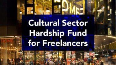 Cultural Hardship fund for freelancers
